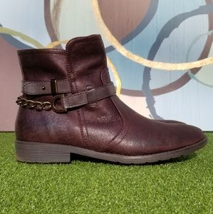 Bare Traps Brown Ankle Booties - size 7